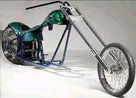 more hard tails, soft tails, custom motorcycle frames, and rolling chassis kits and Custom Harley-Davidson parts