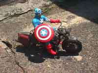 Captain America & Motorcycle Art