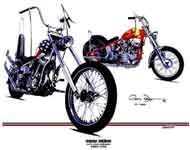 Click to Zoom on Chopper motorcycle art