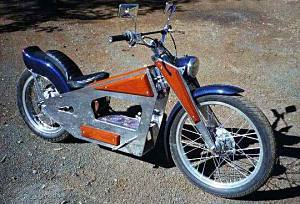 Click to see electric homemade motorcycle photos