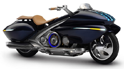 Click to see more Yamaha Gen-RYU hybrid motorcycle information & photos