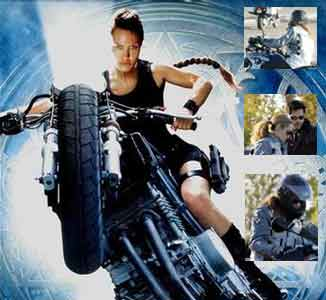 Click for images of Angelina Jolie & Brad Pitt & motorcycles