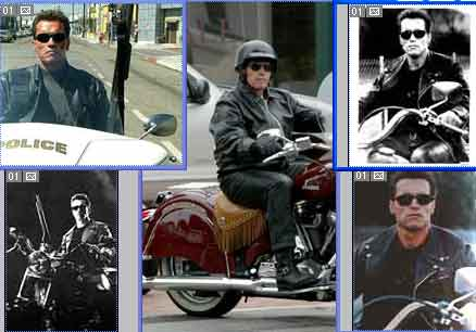 Click for photos of Arnold Schwarzenegger Gallery on motorcycles