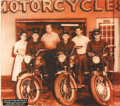 Click for Gallery of Buddy Holly & motorcycle