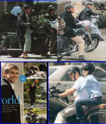 Click for George Clooney Gallery on motorcycles