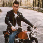 Click for Johnnie Depp & motorcycle