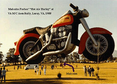 Click for Malcolm Forbes Harley-Davidson Balloon