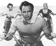 Click for Marlon Brando & motorcycle