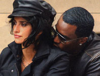 Click for Penelope Cruz & P Diddy Combs & motorcycle