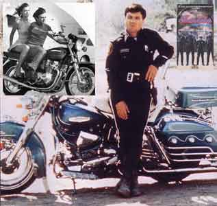 Click for Gallery of Robert Blake & motorcycle