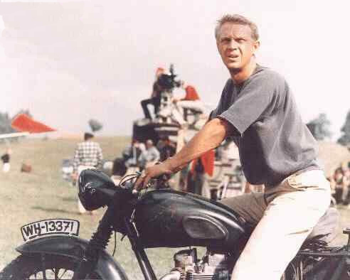 Click for Steve McQueen Motorcycle Gallery