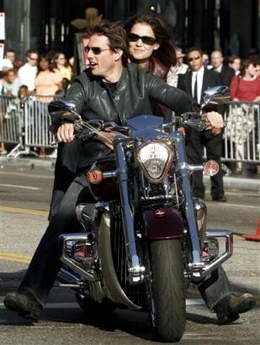 Click for photo of Tom Cruise & motorcycles