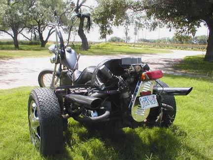 Click to ZOOM on Chopped Trike Motorcycle Pic