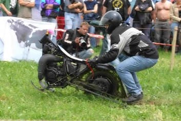 CLICK to ZOOM One-Wheel Racing Motorcycle Photos